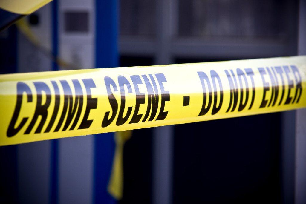 yellow crime scene do not enter tape